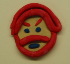 A playdoh creation by a student depicting Leigh